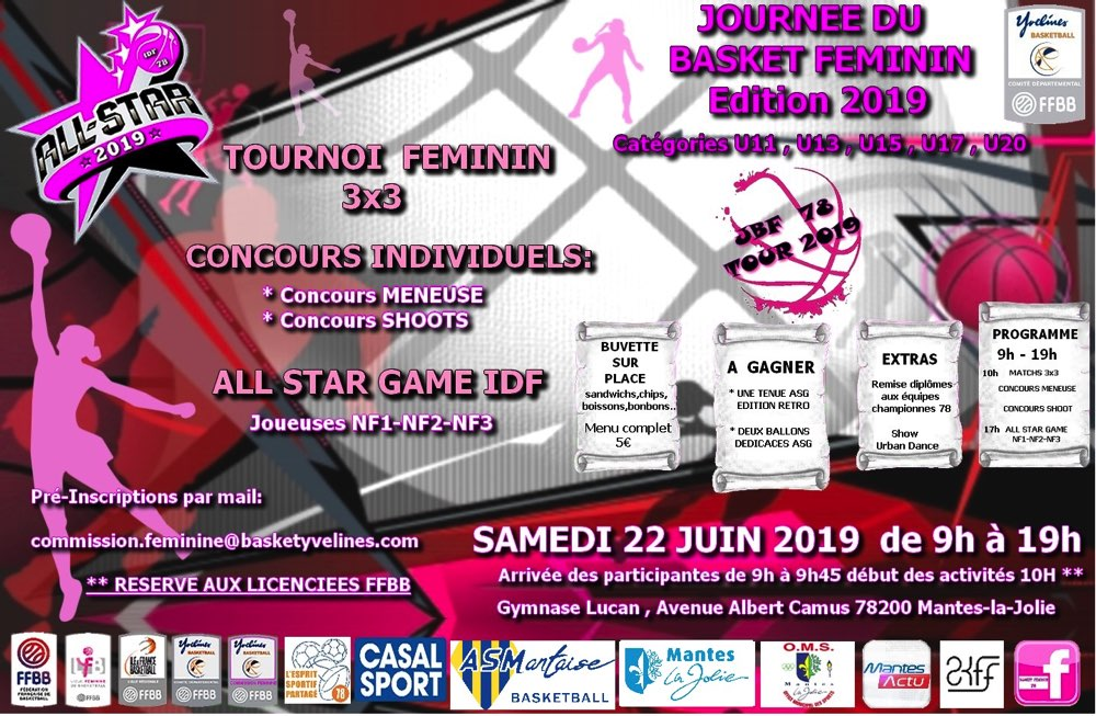 AS Mantaise Basket Féminin ALL STAR 2019 Mantes-la-Jolie